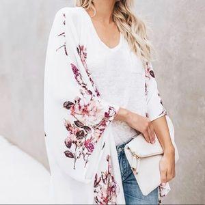Sheer Floral Kimono Medium